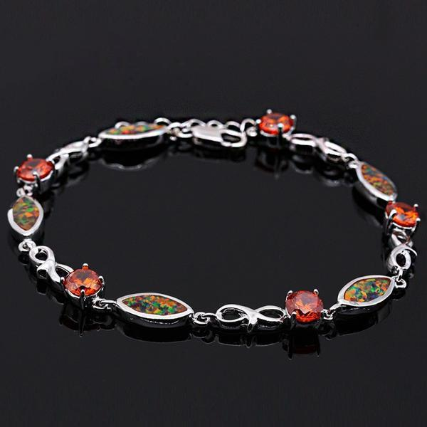 Orange Fire Opal Bracelet - atperry's healing crystals