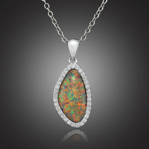 Orange Fire Opal Pendant - AtPerry's Healing Crystals™