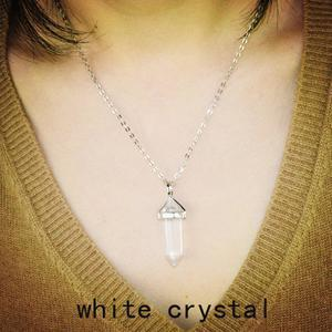 Natural Quartz Stone Pendant Necklace - atperry's healing crystals