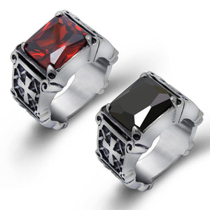 vintage Titanium Steel Retro Cross Ring For Men - atperry's healing crystals