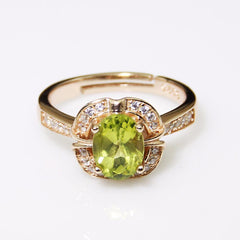 Peridot Luxury Ring - 925 Sterling Silver - AtPerry's Healing Crystals™