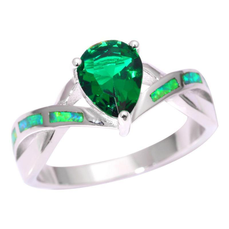 Green Fire Opal Green Quartz Ring - AtPerry's Healing Crystals™