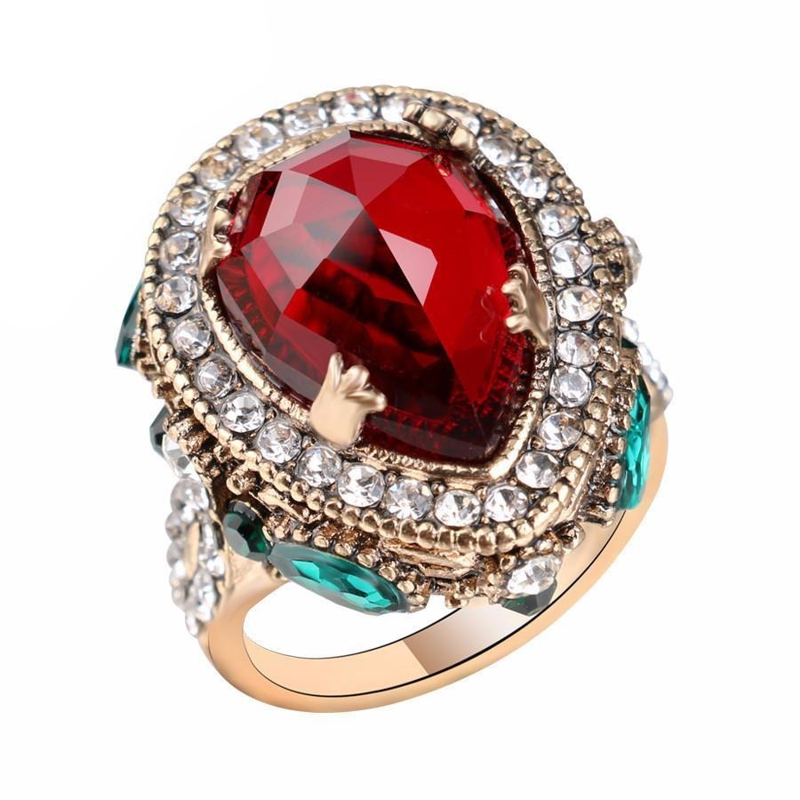Turkish Vintage Ruby & Sapphire Ring