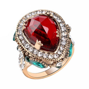 Turkish Vintage Ruby & Sapphire Ring - atperry's healing crystals