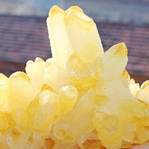 Natural Yellow Citrine Quartz Crystal Cluster - atperry's healing crystals
