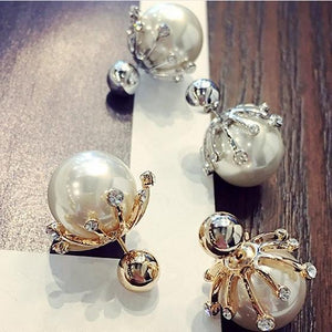 Big Pearl Stud Earrings - AtPerry's Healing Crystals™