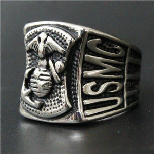 Heavy USMC Anchor Ring - Stainless Steel - AtPerry's Healing Crystals™
