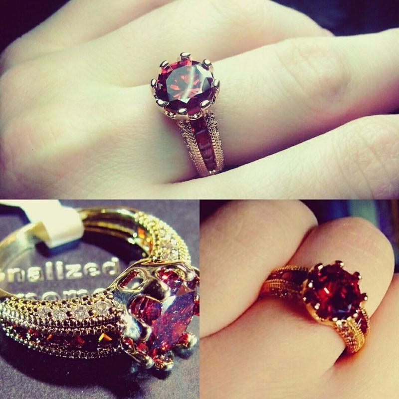 Ruby Gold Plated Ring - AtPerry's Healing Crystals™