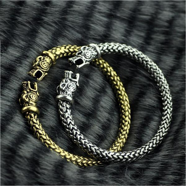 The vikings Wolf Bracelets - Men/Women - AtPerry's Healing Crystals™