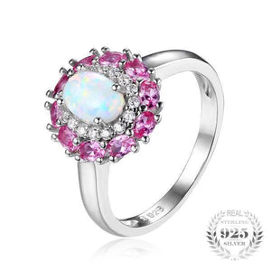 White Opal Ring - 925 Sterling Silver - atperry's healing crystals