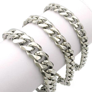 Men Silver & Gold Plated Bracelet - Stainless SteelBracelet