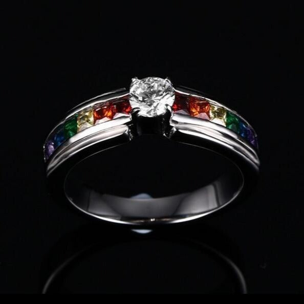 Multi Diamond Ring   matans store.myshopify.com