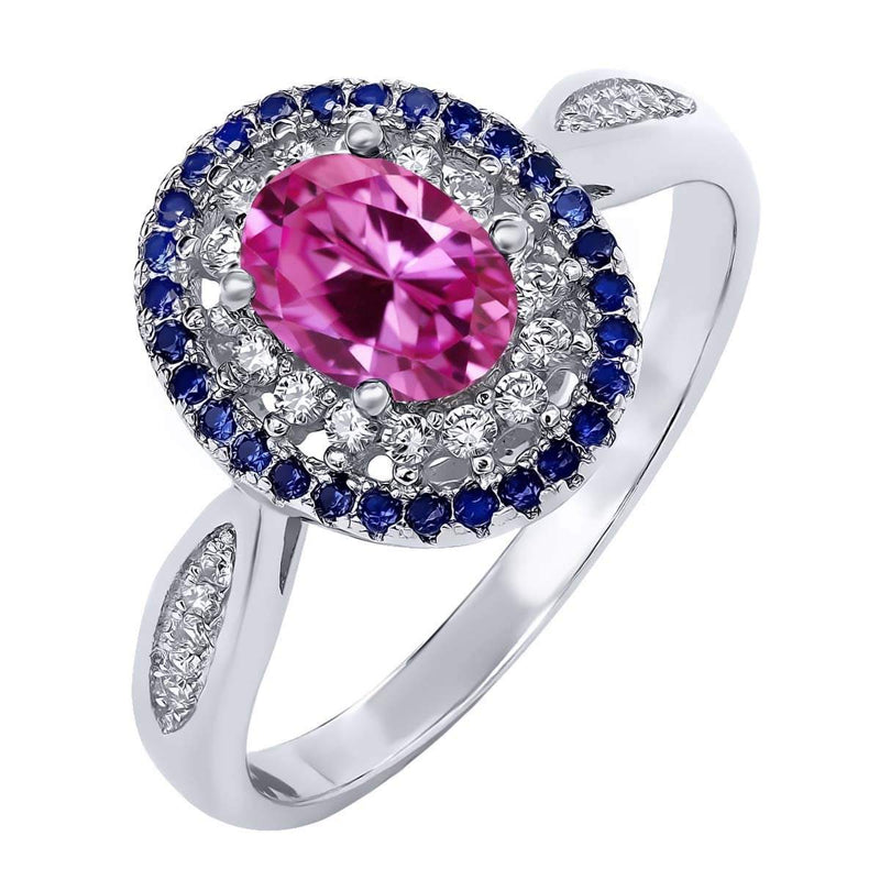 Pink Sapphire Ring - 925 Sterling SilverRing5Pink