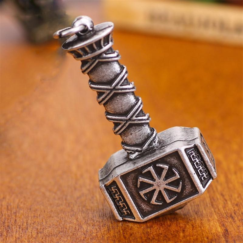 Viking Thor Hammer Amulet Pendant - atperry's healing crystals