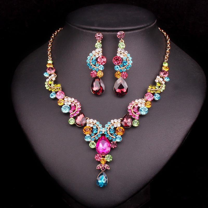 Multi Stone Necklace & Earrings Set - AtPerry's Healing Crystals™
