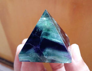 Natural Fluorite Crystal Pyramid - atperry's healing crystals