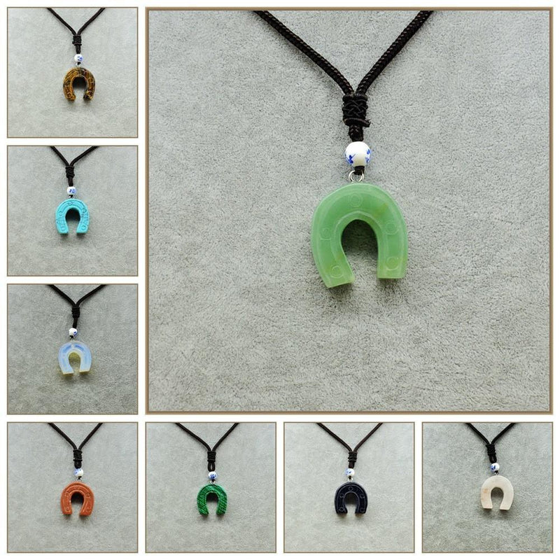 30 mm Horseshoe Fine Pendant Necklace for Men - AtPerry's Healing Crystals™