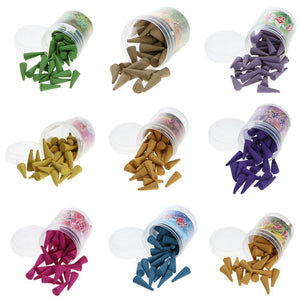 40 pcs/set Floral Incense Cones - atperry's healing crystals