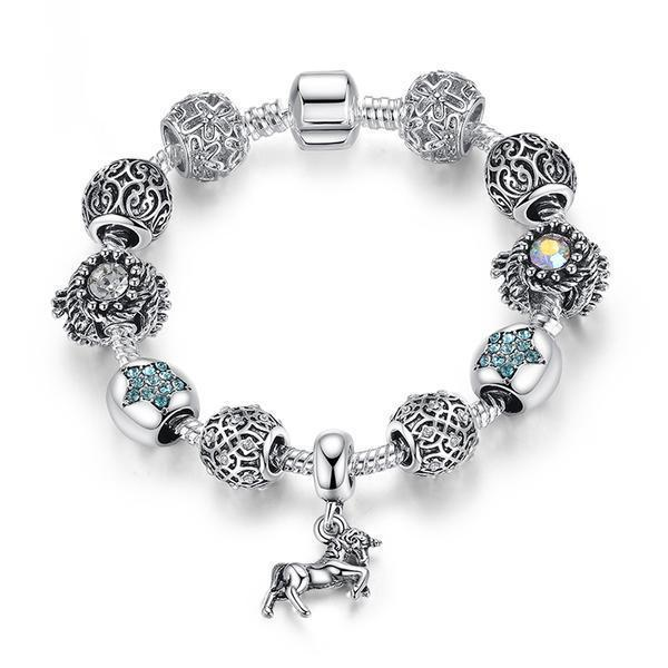 Horse Charm Bracelet - 925 Silver - AtPerry's Healing Crystals™