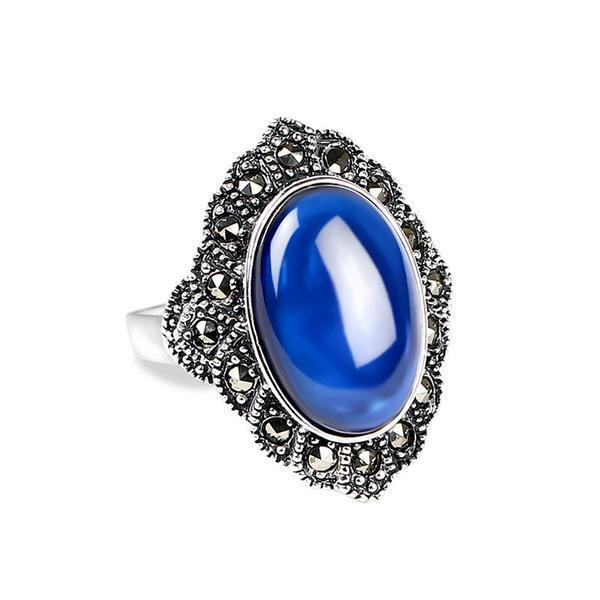 Natural Sapphire Ring - 925 Sterling Silver - AtPerry's Healing Crystals™