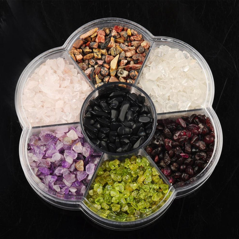Natural Crystal Beads With Seven Chakra Gem Stone Box - atperry's healing crystals