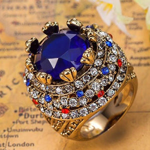 Royal Sapphire Blue Turkish African Ring - atperry's healing crystals