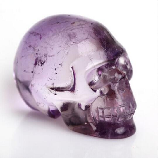 Natural Crystal Amethyst Skull