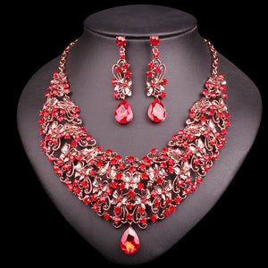 Butterfly Ruby Necklace Earring Set - AtPerry's Healing Crystals™