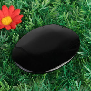 Black Obsidian Scrying Mirror - atperry's healing crystals