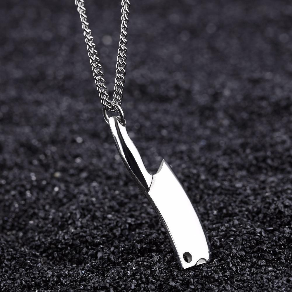 Stainless Steel Kitchen Knife Necklace - AtPerry's Healing Crystals™