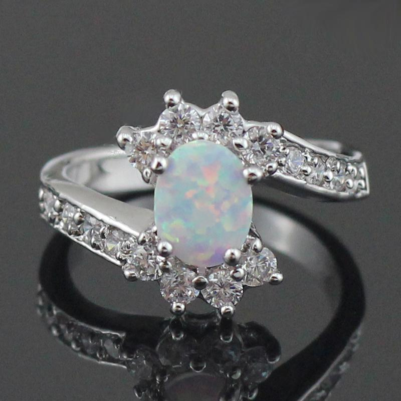Original White Fire Opal Ring