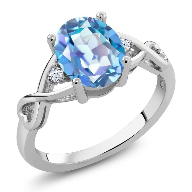 Blue Quartz Topaz Ring - 925 Sterling Silver - atperry's healing crystals