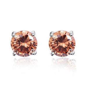 Morganite Stud Earrings - 925 Sterling Silver - AtPerry's Healing Crystals™
