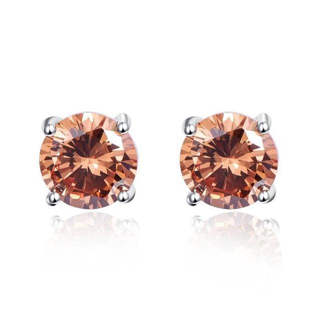 Morganite Stud Earrings - 925 Sterling Silver - atperry's healing crystals