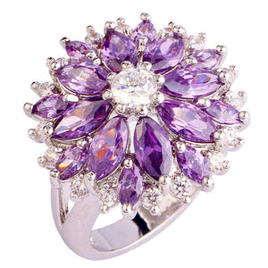 Mystic Flower Topaz Ring - Sterling Silver - AtPerry's Healing Crystals™