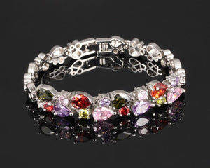 Multicolor Platinum Plated BraceletBracelet175mm