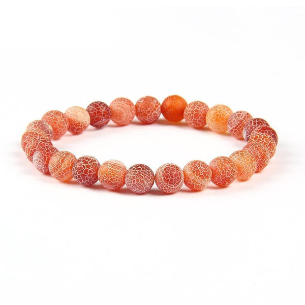 8mm Natural Garnet and Agate Round Beads Bracelet for Men & Women - AtPerry's Healing Crystals™
