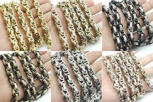 Chain Link Stainless Steel Bracelet For Men - atperry's healing crystals