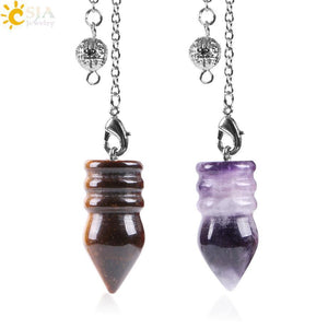 Natural Gem Stone Pendulum Pyramid - AtPerry's Healing Crystals™