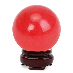 Natural Red Agate Crystal Ball - atperry's healing crystals