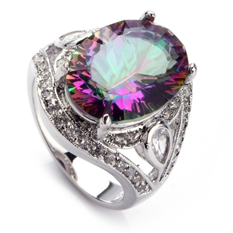 Handmade Mystic Topaz Ring - AtPerry's Healing Crystals™