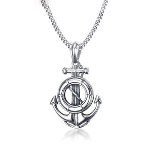 Stainless Steel Anchor Necklace For Men - atperry's healing crystals