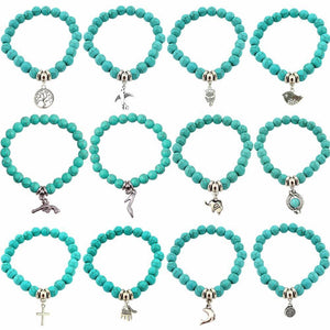 Love Turquoise Charm Bracelets - AtPerry's Healing Crystals™