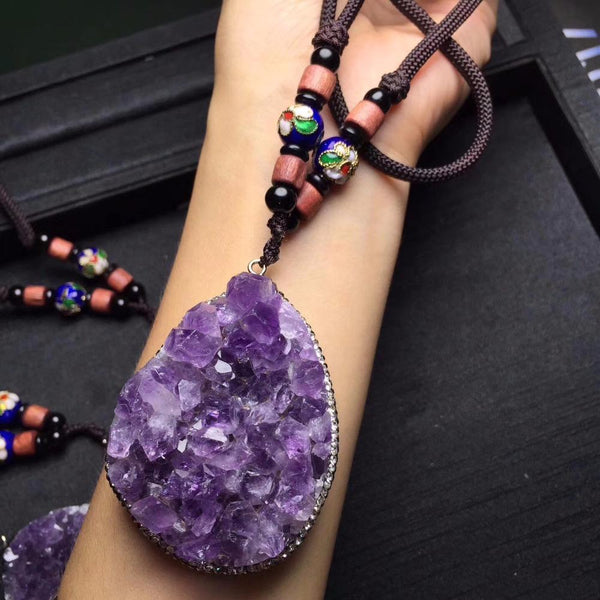 New Style Natural Purple Amethyst Beads Necklace - AtPerry's Healing Crystals™