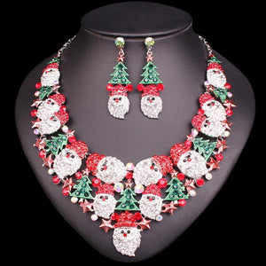 Exclusive Christmas Gemstone Set - Necklace + Earrings - atperry's healing crystals
