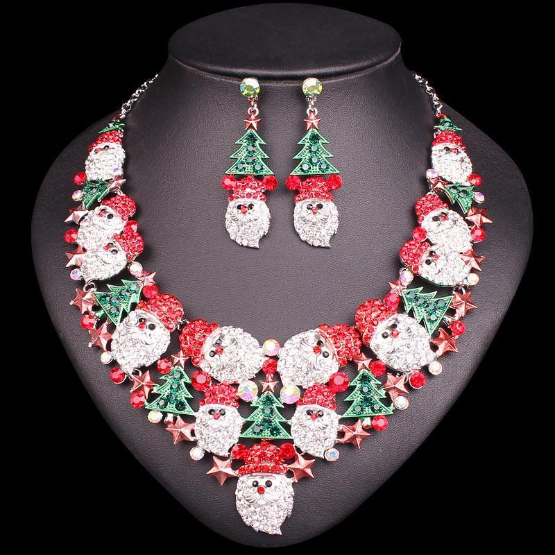 Exclusive Christmas Gemstone Set - Necklace + Earrings - AtPerry's Healing Crystals™