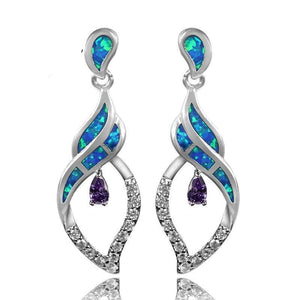 Luxurious Fire Opal Fashionable Earrings - atperry's healing crystals