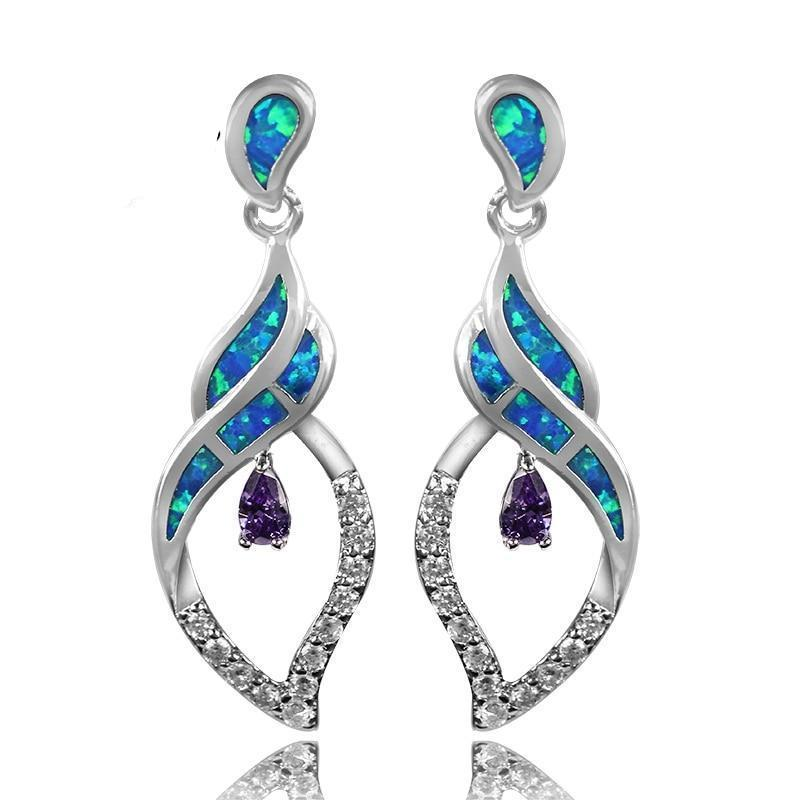 Luxurious fire opal fashionable earrings