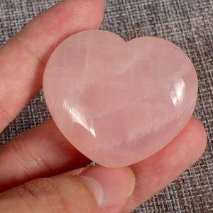 Heart Shape Rose Quartz Crystal Stone