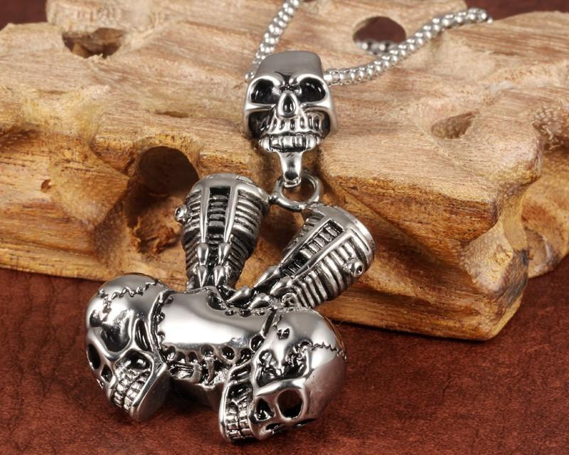 Stainless Steel Skeleton Motorcycle Chain - AtPerry's Healing Crystals™